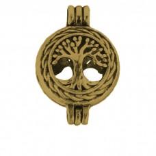 """Аромакулон """"Дерево жизни в кольце"""" круглый малый металлический"""