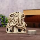 """Аромалампа """"Слон со слонятами"""" шликерная керамическая"""
