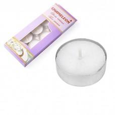 Свечи в гильзе чайные 10 г (белые) набор 10 шт