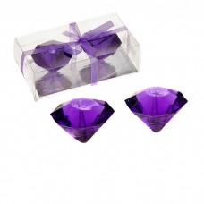 """Свечи плавающие гелевые """"Бриллиант"""" (фиолетовый) набор 2 шт"""
