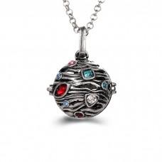 "Аромакулон ""Волны и камушки"" эмаль шар 20 мм металлический"